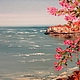 """Пейзаж ручной работы. Ярмарка Мастеров - ручная работа. Купить Постер фрагмента картины """"На летнем берегу"""". Handmade. Цветы"""