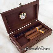Сувениры и подарки ручной работы. Ярмарка Мастеров - ручная работа Хьюмидор для хранения сигар. Handmade.