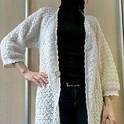 Одежда handmade. Livemaster - original item White openwork cardigan. Handmade.