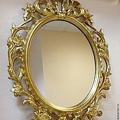 Для дома и интерьера ручной работы. Ярмарка Мастеров - ручная работа Зеркало настенное в золоченом багете. Handmade.