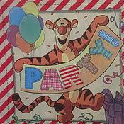 Материалы для творчества ручной работы. Ярмарка Мастеров - ручная работа №16 Салфетка для декупажа, тигр,поросёнок,ослик,праздник.. Handmade.