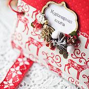 """Канцелярские товары ручной работы. Ярмарка Мастеров - ручная работа Кулинарная книга """"Рождество в Лапландии"""". Handmade."""