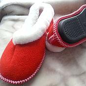 Обувь ручной работы handmade. Livemaster - original item Fur Slippers on sheepskin. Handmade.