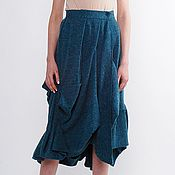 Одежда handmade. Livemaster - original item The skirt Cascade knit with added Angora. Handmade.