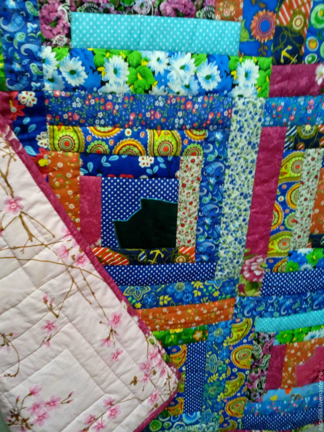 "Patchwork quilt ""Cats in the houses"", Blanket, Tyumen,  Фото №1"