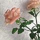 Цветы ручной работы. Заказать Роза чайная. Алла Даниленко. Ярмарка Мастеров. Роза ручной работы, подарок на любой случай