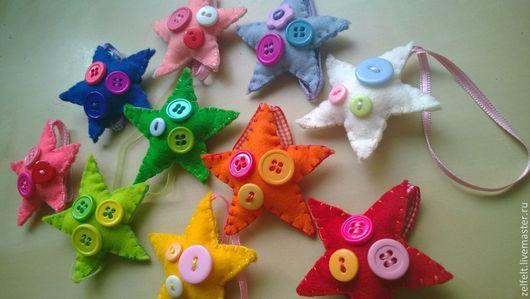 Детская ручной работы. Ярмарка Мастеров - ручная работа. Купить маленькие звёздочки. Handmade. Звезды, подарок коллеге, пуговицы