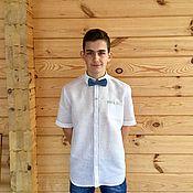 "Одежда ручной работы. Ярмарка Мастеров - ручная работа Мужская льняная рубашка "" Франт"". Handmade."