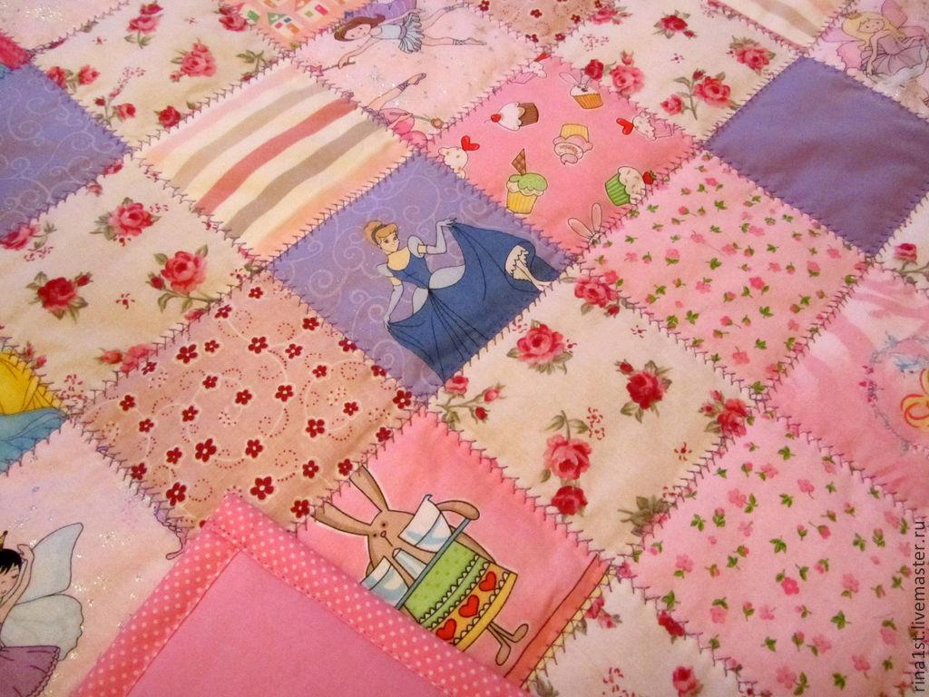 как сшить детское лоскутное одеяло вручную для