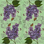 Материалы для творчества handmade. Livemaster - original item Napkins decoupage Lavender mood print. Handmade.