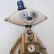 Куклы и игрушки ручной работы. Ярмарка Мастеров - ручная работа - 40%  распродажа. Мистер ТикТак. Стимпанк человечек.. Handmade.