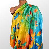 Аксессуары handmade. Livemaster - original item Silk scarf batik Summer mood. Handmade.
