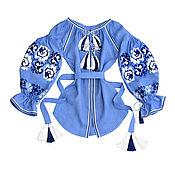 "Blouses handmade. Livemaster - original item Блуза с вышивкой ""Хрустальные Розы"". Handmade."