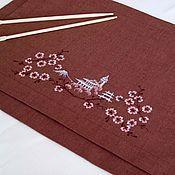 """Для дома и интерьера ручной работы. Ярмарка Мастеров - ручная работа Салфетки с вышивкой """"Японский стиль"""". Handmade."""