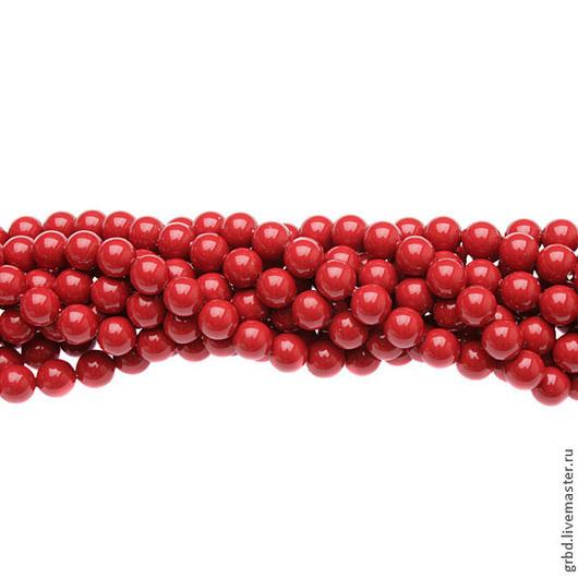 Для украшений ручной работы. Ярмарка Мастеров - ручная работа. Купить Жемчуг Сваровски 6 мм 5810 Red Coral (6-718). Handmade.