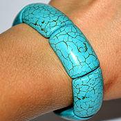 Украшения handmade. Livemaster - original item bracelet TURQUOISE. imitation. Women`s turquoise bracelet. Handmade.