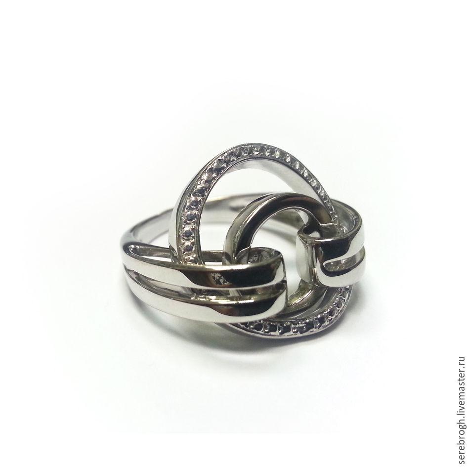 Серебряное кольцо Крутящиеся кольца, Кольца, Москва, Фото №1