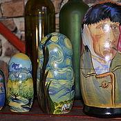 Русский стиль handmade. Livemaster - original item Matryoshka van Gogh portrait. Handmade.