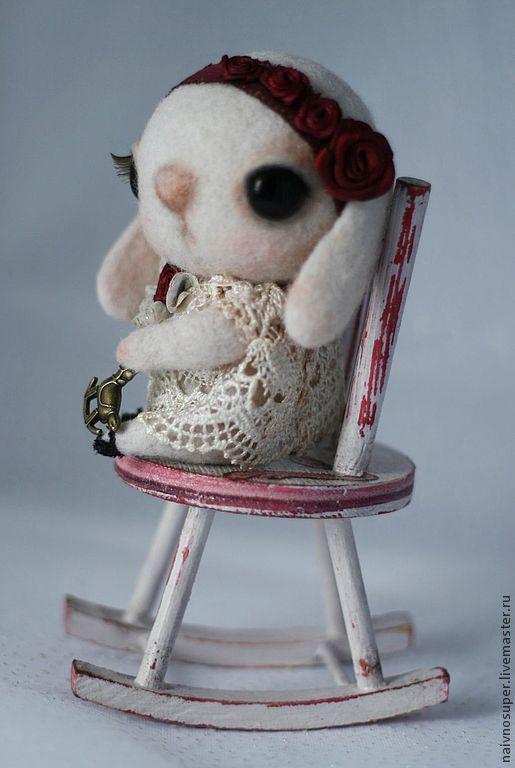 Мишки Тедди ручной работы. Ярмарка Мастеров - ручная работа. Купить Зайка  из шерсти - Роуз. Handmade. Зайка тедди