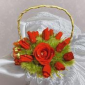Подарки к праздникам ручной работы. Ярмарка Мастеров - ручная работа Букет из конфет Розы. Handmade.