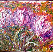 Картины и панно handmade. Livemaster - original item Floral fireworks.(40h50 canvas ). Handmade.