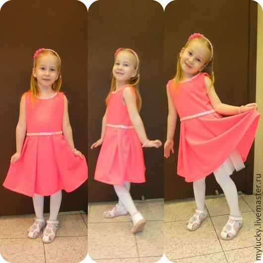 Одежда для девочек, ручной работы. Ярмарка Мастеров - ручная работа. Купить Платье для девочки. Handmade. Оранжевый, платье на девочку