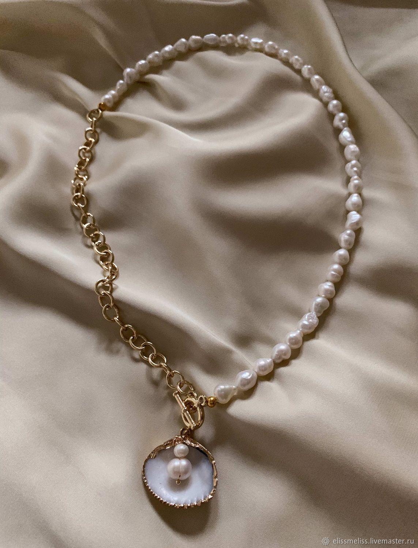 Колье La Pearla из натурального жемчуга, Колье, Москва,  Фото №1