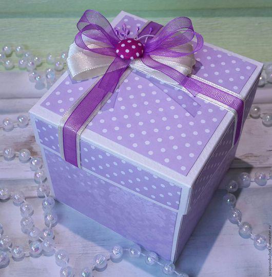 Персональные подарки ручной работы. Ярмарка Мастеров - ручная работа. Купить Коробочка сюрприз для денег. Handmade. Разноцветный, коробочка для денег