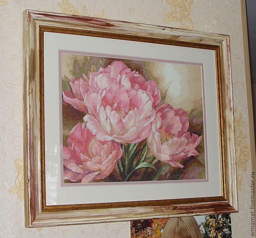 Вышивка тюльпаны трио