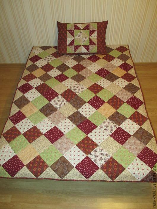 Текстиль, ковры ручной работы. Ярмарка Мастеров - ручная работа. Купить Лоскутное покрывало. Handmade. Разноцветный, лоскутное шитье