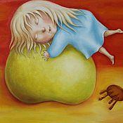 Картины и панно ручной работы. Ярмарка Мастеров - ручная работа Яблочный закат. Handmade.