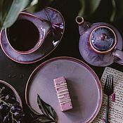 Посуда handmade. Livemaster - original item cookware set: 300 ml mug, saucer, teapot flat plate. Handmade.