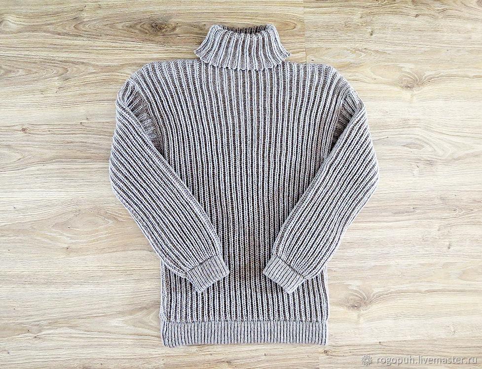 Fleece turtleneck sweater, light grey (No. №695), Mens sweaters, Nalchik,  Фото №1
