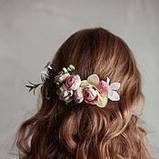Украшения handmade. Livemaster - original item Scallop. With delicate light pink flowers.. Handmade.