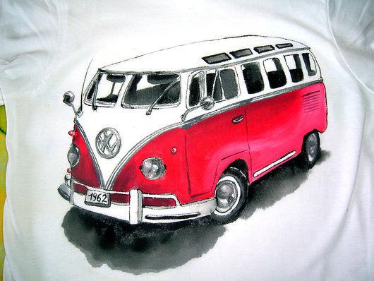 Футболки, майки ручной работы. Ярмарка Мастеров - ручная работа. Купить Volkswagen жук - футболки (0940). Handmade. Футболка майка
