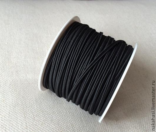 Другие виды рукоделия ручной работы. Ярмарка Мастеров - ручная работа. Купить Сутаж - шнур. Черный (10 метров). арт.104026. Handmade.