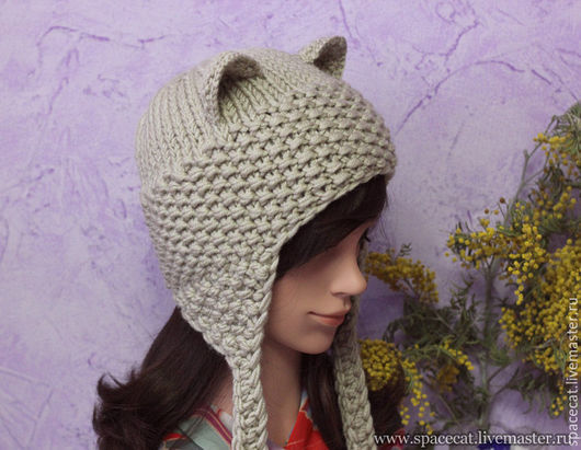 шапка вязаная, шапка с ушками, шапочка с ушками, шапочка для девушки, женская шапка, вязаная шапка с ушками, зимняя шапка, шапка с ушками вязанная, шапка вязанная, шапка кошка, шапка с ушками женская