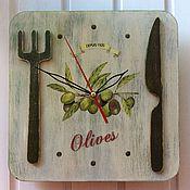 """Для дома и интерьера ручной работы. Ярмарка Мастеров - ручная работа Часы """"Вилка и нож"""". Handmade."""