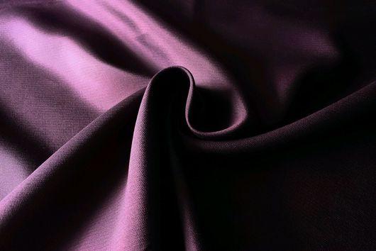 Шитье ручной работы. Ярмарка Мастеров - ручная работа. Купить Итальянская шелк шерсть сливового цвета. Handmade. Комбинированный