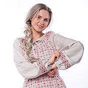 Одежда handmade. Livemaster - original item Blouse linen Makosh on gray. Handmade.
