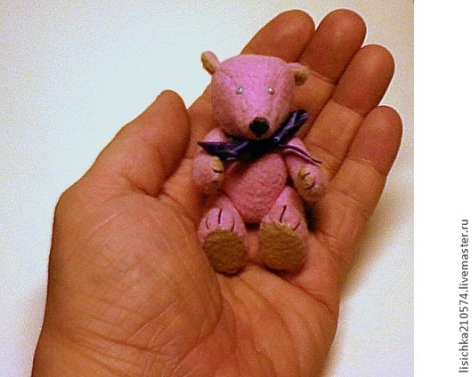 """Мишки Тедди ручной работы. Ярмарка Мастеров - ручная работа. Купить """"Розовый мишка"""" мини-Тедди. Handmade. Мишка тедди"""