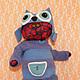 Игрушки животные, ручной работы. Кот сОва. Evalis. Интернет-магазин Ярмарка Мастеров. Кот, шапка сова, синтепон, интерьер