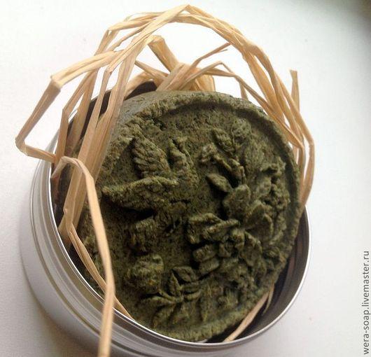 """Шампунь ручной работы. Ярмарка Мастеров - ручная работа. Купить Твердый шампунь """"Аюрведические травы"""". Handmade. Тёмно-зелёный"""