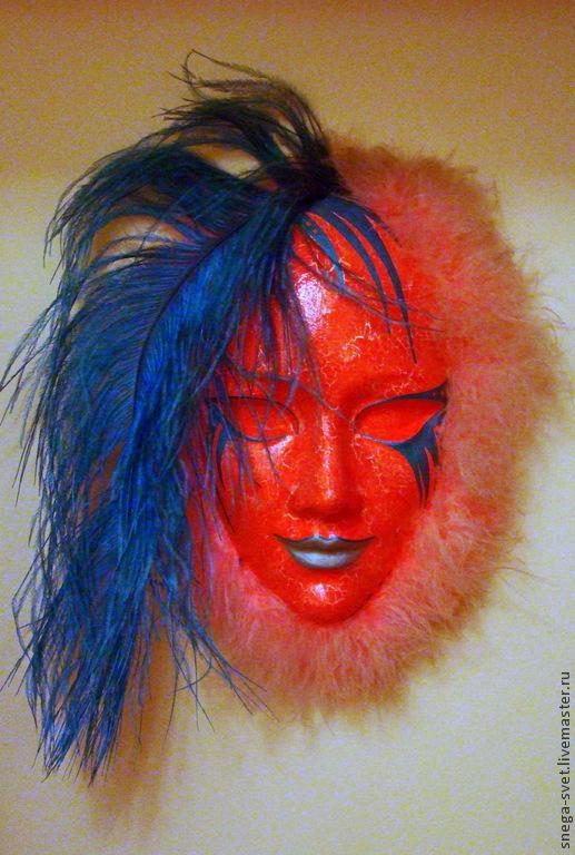 Интерьерные  маски ручной работы. Ярмарка Мастеров - ручная работа. Купить Маска Дженнифер, интерьерная декоративная. Handmade. Маска, маскарад