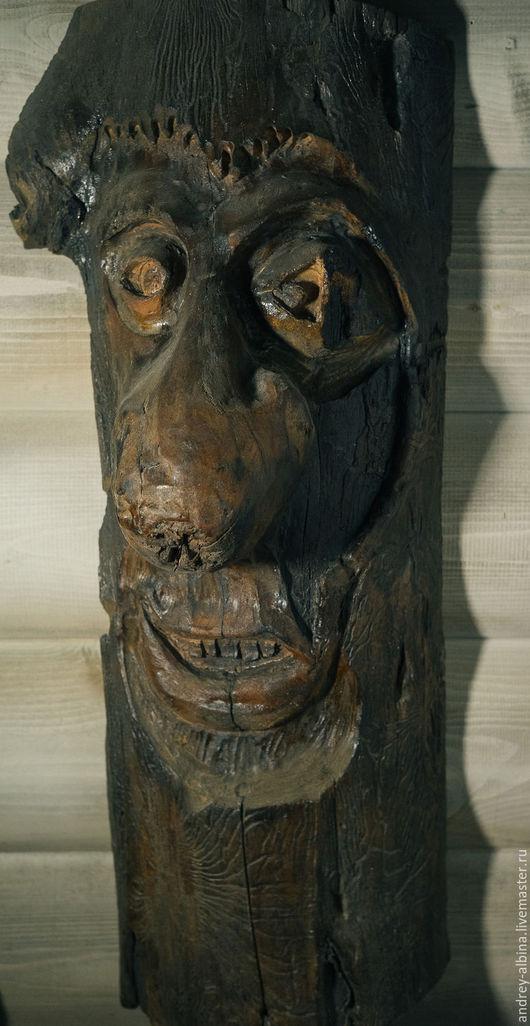 Интерьерные  маски ручной работы. Ярмарка Мастеров - ручная работа. Купить маска интерьернгая из березы для украшения тонированная. Handmade. Маска