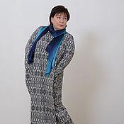 Одежда handmade. Livemaster - original item Knitted dress-a diamond with sleeves