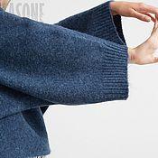 """Одежда ручной работы. Ярмарка Мастеров - ручная работа Свитер синий """"Кобальт"""" синий свитер синий свитер. синий свитер. синий. Handmade."""
