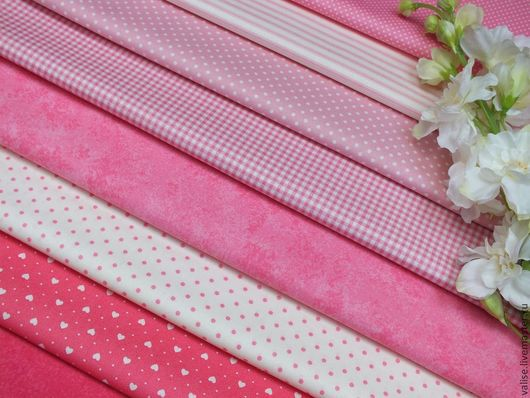 Шитье ручной работы. Ярмарка Мастеров - ручная работа. Купить Розовая коллекция (базовая) makower UK. Handmade. Бледно-розовый
