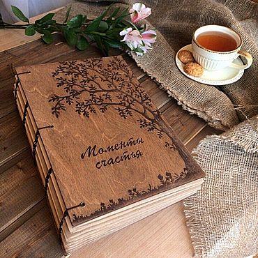 Для дома и интерьера ручной работы. Ярмарка Мастеров - ручная работа Фотоальбомы: фотоальбом с деревянной обложкой. Handmade.