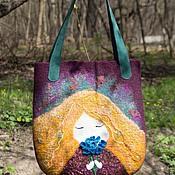 Сумки и аксессуары handmade. Livemaster - original item Fashionable bag felted